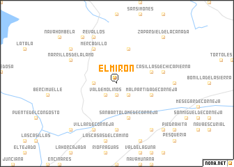 map of El Mirón