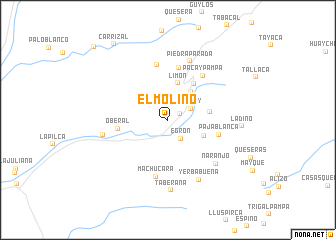 map of El Molino