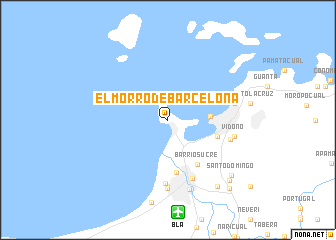 El Morro de Barcelona Venezuela map nonanet