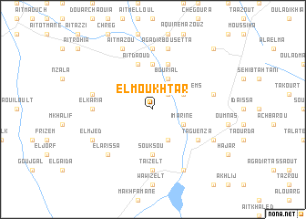 map of El Moukhtar