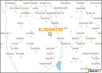 map of El Moukhtar