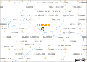 map of El Msila