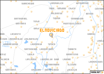 map of El Noviciado