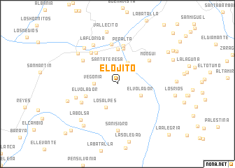 map of El Ojito