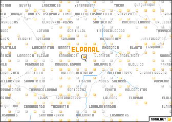 map of El Panal