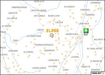 map of El Pao