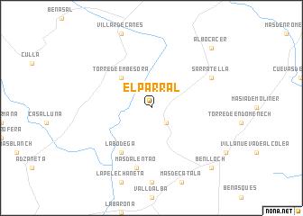 map of El Parral