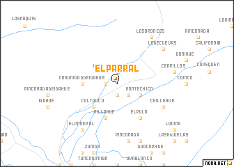 map of El Parral