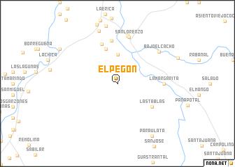 map of El Pegón