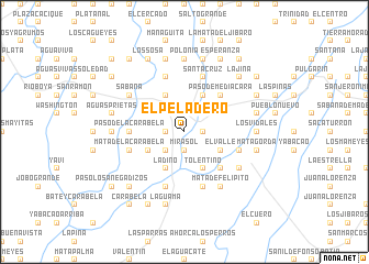 map of El Peladero