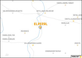 map of El Peral