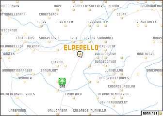 map of El Perelló