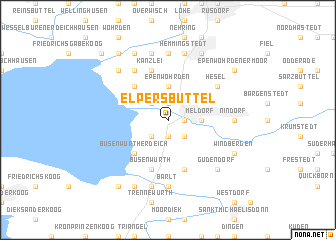 map of Elpersbüttel