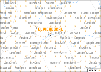 map of El Picadoral