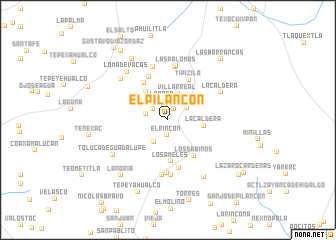 map of El Pilancón