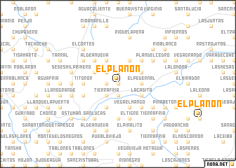 map of El Planón
