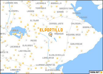 map of El Portillo