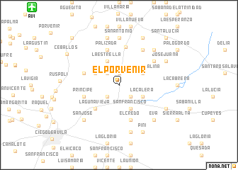 map of El Porvenir