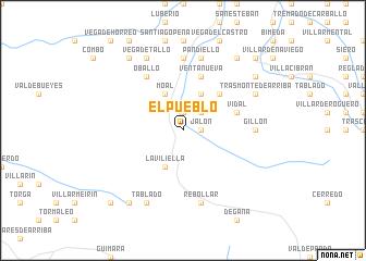 map of El Pueblo