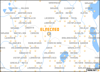 map of El Recreo