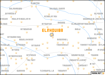 map of El Rhouiba