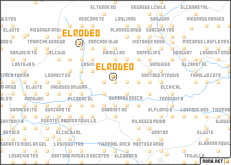 map of El Rodeo