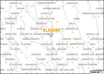 map of El Román
