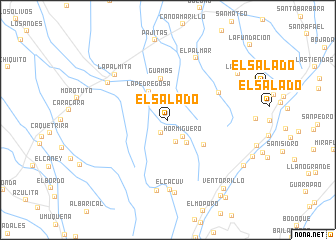 map of El Salado