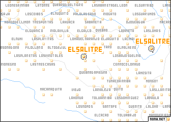 map of El Salitre