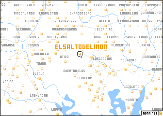 map of El Salto de Limón
