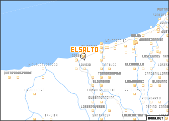 map of El Salto