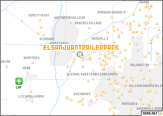 map of El San Juan Trailer Park
