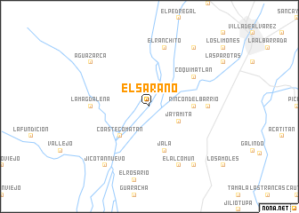 map of El Sarano