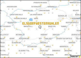 map of Elsdorf-Westermühlen