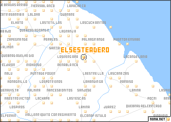 map of El Sesteadero