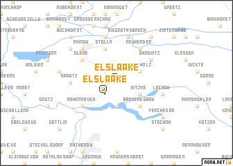 map of Elslaake
