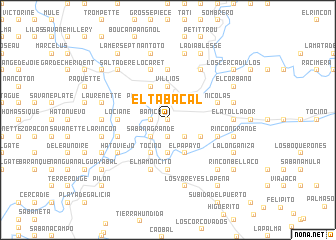 map of El Tabacal