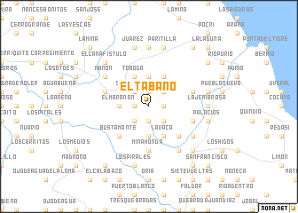 map of El Tábano