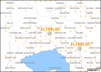 map of El Tablón