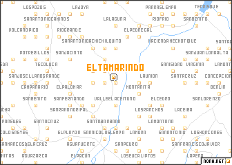 map of El Tamarindo