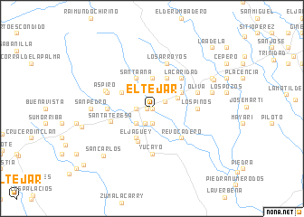 map of El Tejar
