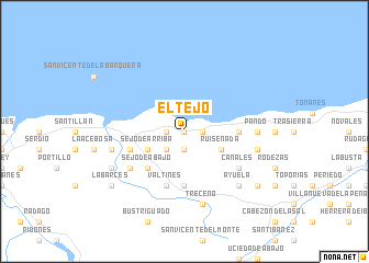map of El Tejo