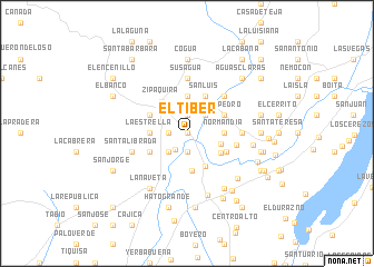 map of El Tíber
