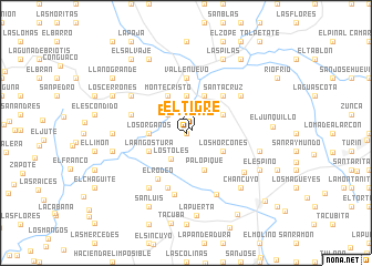 map of El Tigre