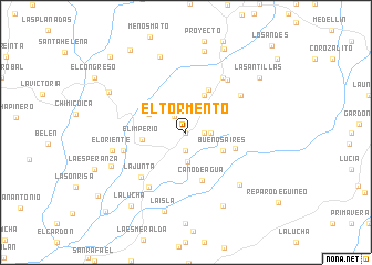 map of El Tormento