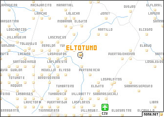 map of El Totumo