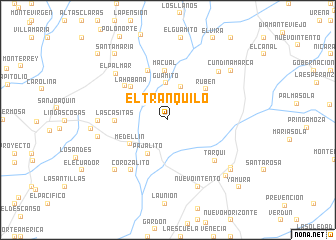 map of El Tranquilo