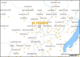 map of El Triunfo