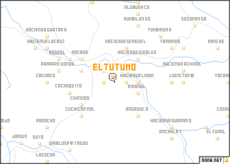 map of El Tutumo