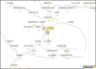 map of Elvas